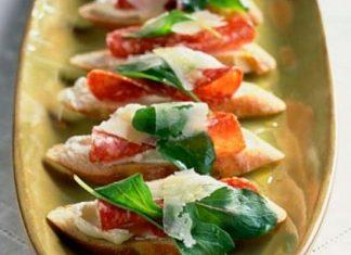 crostini ricotta e salame