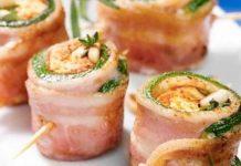 Involtini di zucchine bacon e rosmarino