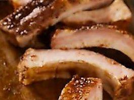 costolette di maiale salsa barbeque