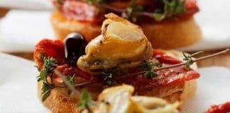 bruschetta cozze pomodori secchi