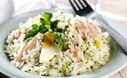 insalata riso e salmone