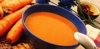 zuppa di carote piccante