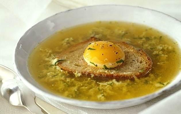 Zuppa pane uovo