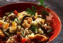 riso e cozze insalata