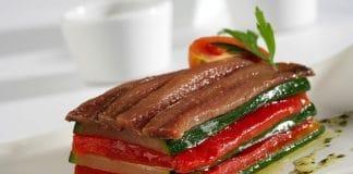 Tortino di zucchine e peperoni