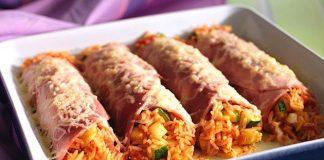 Cannelloni di prosciutto cotto e riso