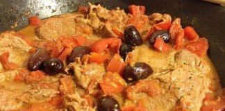 carne pizzaiola olive