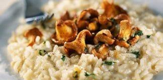 risotto con finferli mascarpone