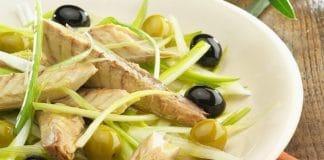 antipasto veloce sgombri e olive