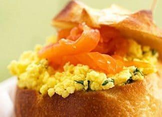bigne salmone uova