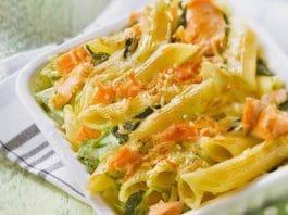 pennesalmone spinaci gratinate