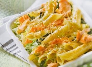 pennesalmone spinaci gratinate