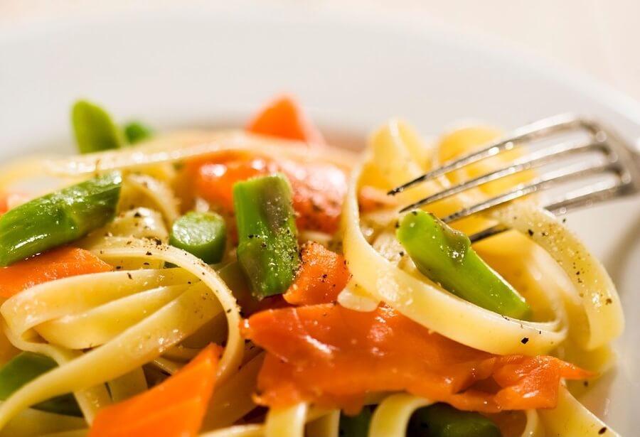 pasta salmone affumicato asparagi senza panna