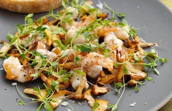 insalata-funghi-finferli-e-gamberoni.