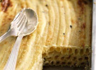 pasta in bianco gratinata