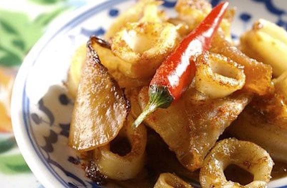 calamari fritti e daikon