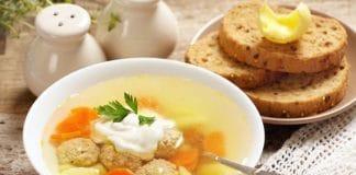 zuppa con polpette