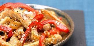 carne di maiale peperoni miele e sesamo