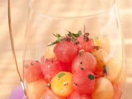 dessert di frutta anguria melone