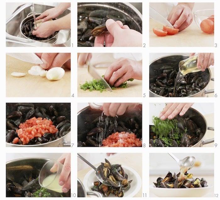 Come cucinare le cozze alla marinara in 20 minuti for Cucinare le cozze