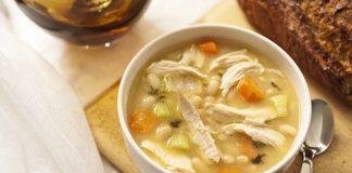 zuppa fagioli e pollo