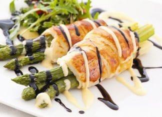 asparagi al forno pasta sfoglia balsamico
