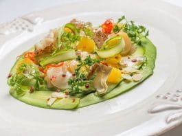 carpaccio gamberi crudi zucchine crude