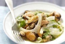 cozze finocchi insalata
