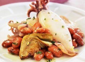calamari carciofi fagioli