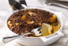 crumble cioccolato pere ricetta veloce