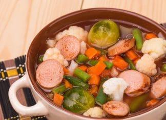 minestra verdure salsicce