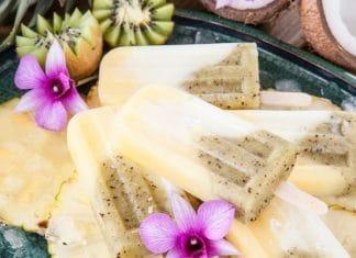 Ghiaccioli ananas kiwi
