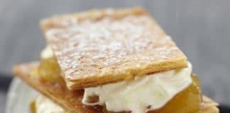 millefoglie con crema chantilly e marmellata
