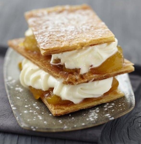 dolce veloce millefoglie crema e marmellataricette30minuti