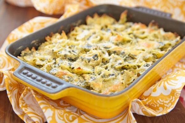 pasta-gratinata-carciofi-e-spinaci