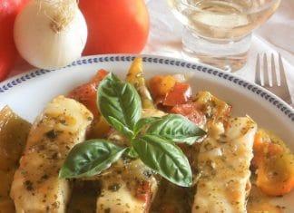 Filetti di merluzzo in peperonata ricetta