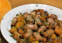 salsiccia e zucca saltati in padella ricetta