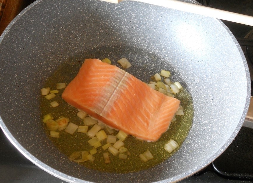 Gnocchi e salmone fresco senza panna foto 1