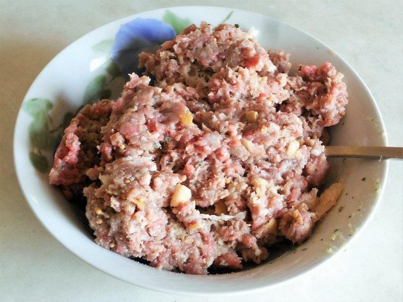 Polpette di manzo e salsiccia 1