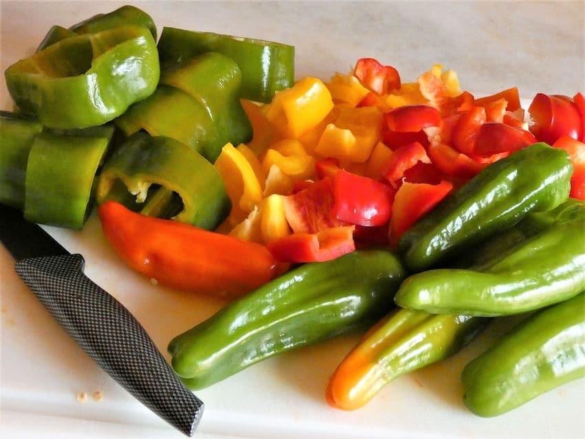 pulire i peperoni