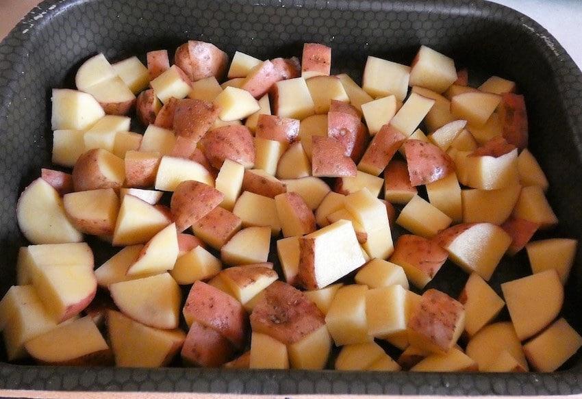 ricetta patate al forno rosse foto 1