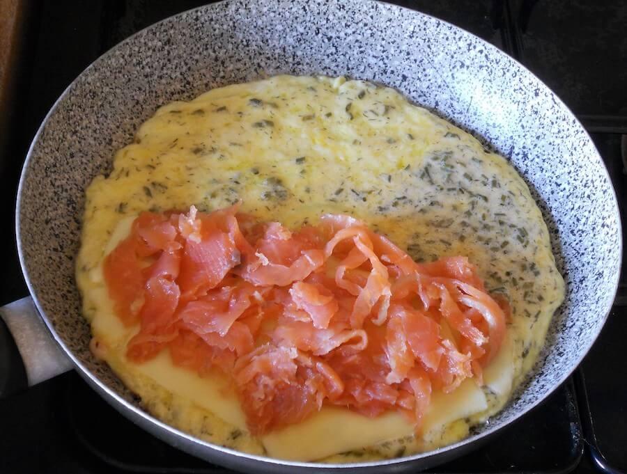 Omelette al salmone affumicato