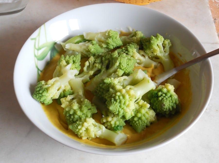 Sformato di broccolo alla curcuma