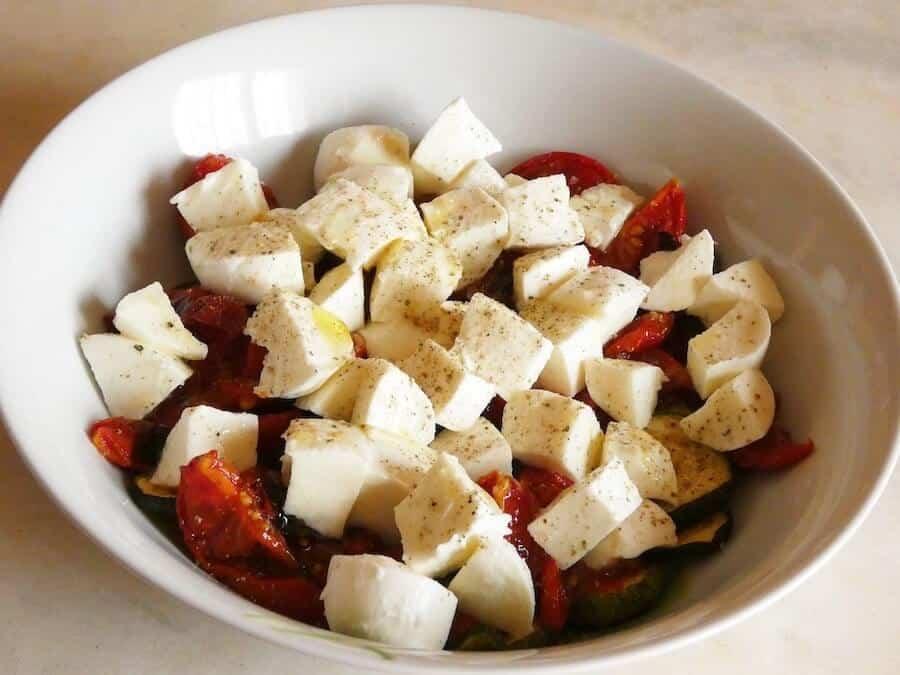 verdure grigliate mozzarella-ricetta