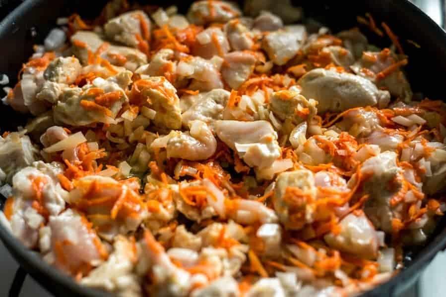 straccetti di pollo carote e limone